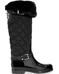 Michael Kors Michael Fulton Quilted Rain Boots - Lyst