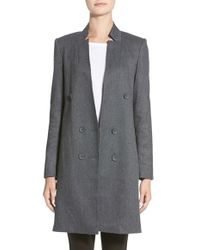 James Jeans - Double Breasted Coat Car Coat - Lyst
