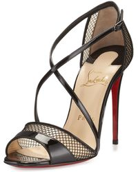 christian louboutin crossover slingback sandals