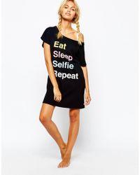 Adolescent Clothing - Eat Sleep Selfie Repeat Nightshirt - Lyst