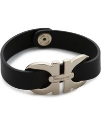 Ferragamo - Bracciali Gancio Bracelet - Nero - Lyst