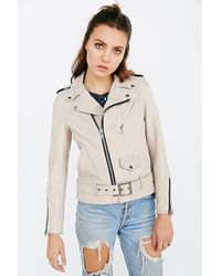 Schott Nyc Ex-boyfriend Leather Moto Jacket - Lyst