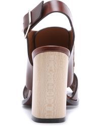 Thakoon Addition - Lizzy Chunky Heel Sandals - Saddle/tabbac - Lyst