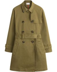 RED Valentino Stretch Cotton Trench Coat - Lyst