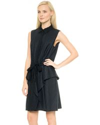 Icb Pinstripe Dress  Iris Multi - Lyst