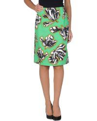 Jonathan Saunders Knee Length Skirt - Lyst
