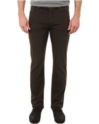 7 For All Mankind Luxe Performance Slimmy Slim Straight in Dark Earth - Lyst