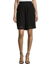 Philosophy - High-waist Pleated Shorts - Lyst