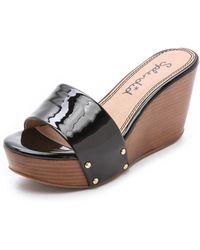 Splendid Greenville Wedge Slides - Black - Lyst