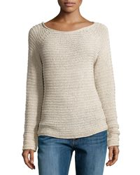 Halston Heritage Textured Knit Raglan Sweater - Lyst