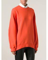 Acne Studios Orange Beta Sweatshirt - Lyst