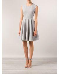 Giambattista Valli Stretch Flare Flannel Dress - Lyst