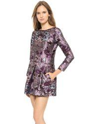 Nina Ricci Long Sleeve Dress Lilac Bordeaux - Lyst