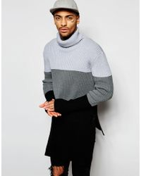 Underated - Super Longline Roll Neck Sweater - Lyst