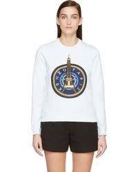 KENZO - Mint Green And Gold Eiffel Tower Sweatshirt - Lyst