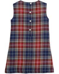 Oscar de la Renta Plaid Aline Pocket Dress - Lyst