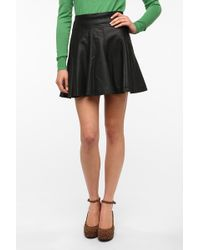 Sparkle & Fade - Vegan Leather Circle Skirt - Lyst
