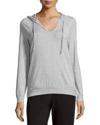 La Perla - Scoop-neck Hooded Sweatshirt - Lyst