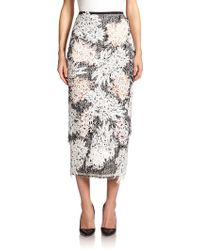 Erdem   Safia Tweed Pencil Skirt   Lyst