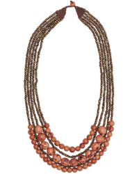 Greenola Style Pink Bernadette Necklace - Brown