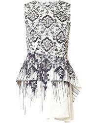 McQ by Alexander McQueen Sculpted Peplum Faille Dress - Lyst