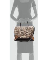 Givenchy | Obsedia Medium Snake Satchel Bag Natural | Lyst