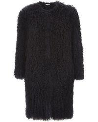Schumacher Mongolian Fur Coat - Lyst