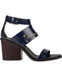 Balenciaga Pierced Ankle-Strap Sandals blue - Lyst