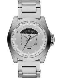 Diesel Mens Arges Stainless Steel Bracelet Watch 50x46mm - Lyst