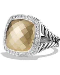 David Yurman Albion Ring With Diamonds And Gold - Lyst