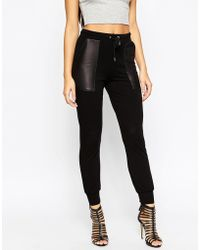 ASOS | Joggers With Leather Look Pockets | Lyst