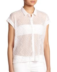 The Kooples Embroidered Chiffon Blouse - Lyst