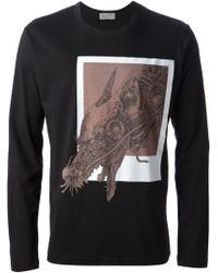 Yohji Yamamoto Dragon Print Tshirt - Lyst
