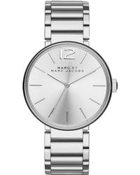 Marc By Marc Jacobs Peggy Stainless Steel Bracelet Watch - Lyst