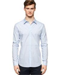 Calvin Klein Engineer Fine-Stripe Slim-Fit Shirt - Lyst