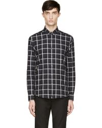 Surface To Air Navy and White Gingham Check Shirt - Lyst