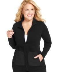 Jones New York Signature Plus Size Quilted Active Jacket - Lyst