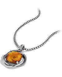 David Yurman Infinity Pendant, 17Mm Gemstone - Lyst