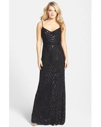 Adrianna Papell Beaded Gown - Lyst