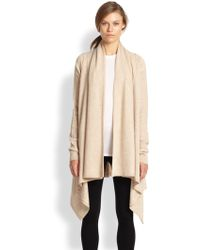 Vince Draped Wool/Cashmere Cardigan - Lyst
