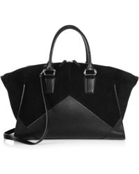 Narciso Rodriguez Claire Leather  Suede Zip Satchel - Lyst