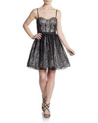 Aidan Mattox Lace Bustier Cocktail Dress - Lyst
