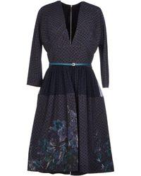 Elie Saab Knee-Length Dress blue - Lyst
