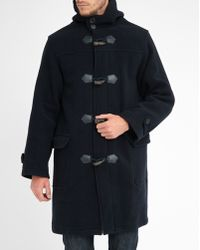 Armor Lux   Navy Oversize Wool/cashmere Duffle Coat With Zip And Buttons   Lyst