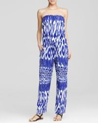 Tommy Bahama - Tie Dye Strapless Jumpsuit Swim Cover Up - Lyst