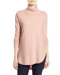 Chelsea28 Nordstrom Turtleneck Sweater - Pink