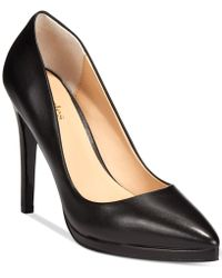 Charles By Charles David Plateau Platform Pumps - Lyst