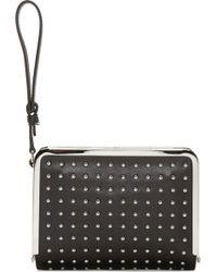 McQ by Alexander McQueen Black Studded Aira Wristlet Clutch - Lyst