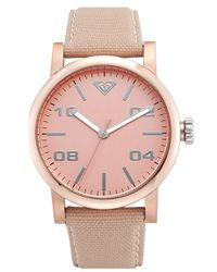 Roxy - 'the Victoria' Canvas Strap Watch - Lyst