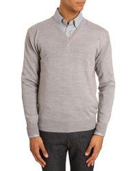 Menlook Label Tom Grey Sweater - Lyst
